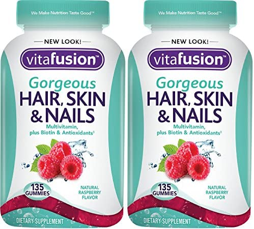 Vitafusion QqfZwz Gorgeous Hair Skin Nails Multivitamin 135 Count Pack of 2 product image