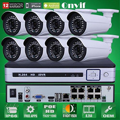 Vigilancia ARBUYSHOP 1080P 2.0MP HD IR al aire libre Seguridad IP...