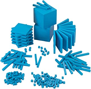 EAI Education Base Ten Intermediate Classroom Set: Blue Plastic - Blocks Only