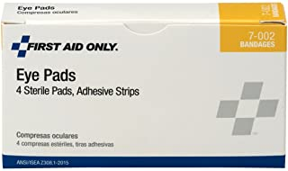 First Aid Only 7-002 8 Piece Eye Pad and Adhesive Strip Kit (Box of 4)