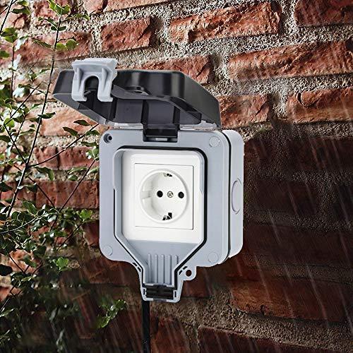 IP66 Prese Elettrico da Muro,IP66 Presa a Muro Interruttore Esterno,Per Protezione Della Superficie...