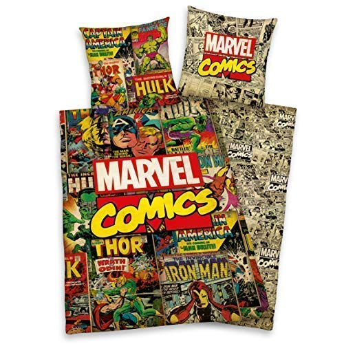Herding Ropa de Cama Liso Marvel Comics Hulk Ion Man Thor Avengers X-Men 135 X 200 All-In-One-Outlet-24