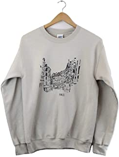Streets of Paris Beige Graphic Crewneck Sweatshirt