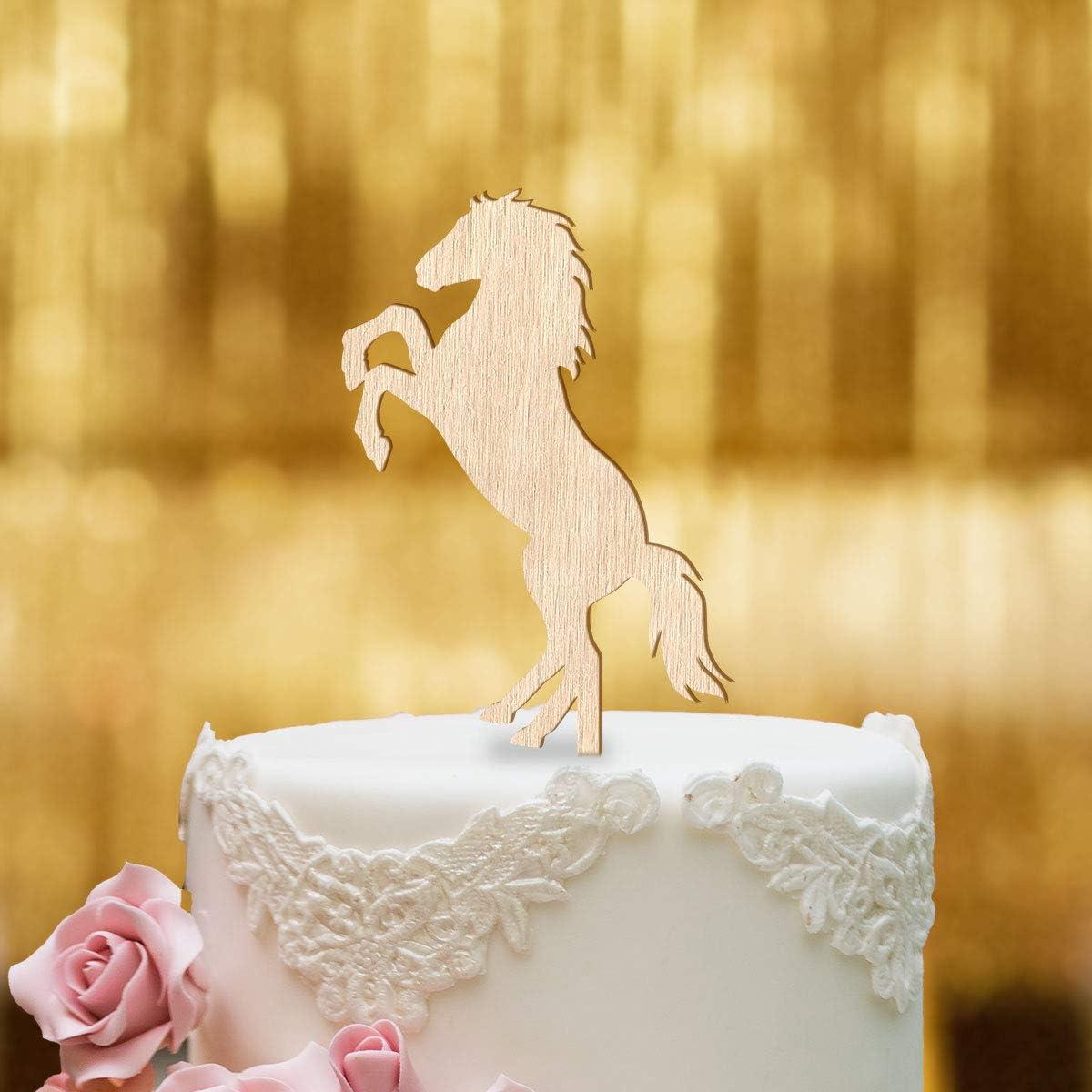 Dankeskarte.com Decoración para tartas, diseño de caballo – Madera – Decoración para tartas, decoración para tartas, decoración de cumpleaños, pony