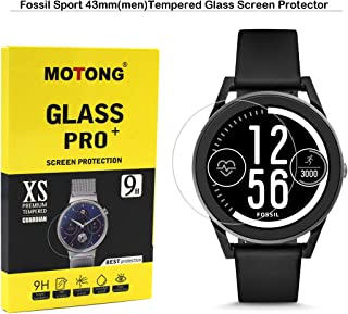 MOTONG for Fossil Sport 43mm Screen Protector - MOTONG Tempered Glass Screen Protectors for Fossil Sport 43mm Watch,9 H Hardness,0.3mm Thickness,Made from Real Glass