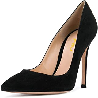 FSJ Women Sexy Suede Pointed Toe Pumps 12 cm High Heels Stilettos Prom Shoes Size 4-15 US