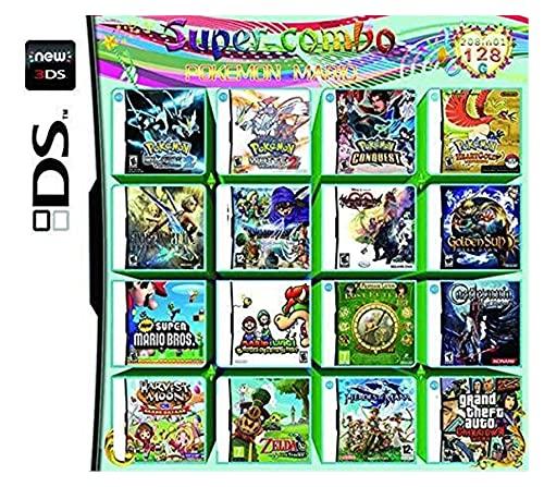 Juego 208 en 1 Cartucho de Juegos NDS Paquete de Juegos DS DS NDS NDSL NDSi 3DS 2DS XL Nuevo