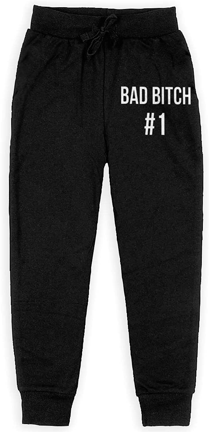Qinf Boys Sweatpants Bad Bitch  1 Joggers Sport Training Pants Trousers Cotton Sweatpants for Youth