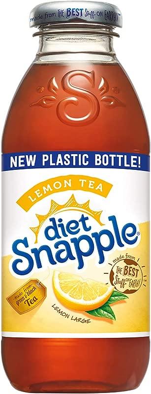 Diet Snapple Lemon Tea 16 Fl Oz 24 Plastic Bottles