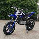 DDDX 49cc Dirt Bike Kids Bike Gas Power Mini Dirt Bike (Blue)