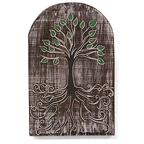 Panneau sculpté arbre de vie pour la maison ou le jardin Cadeau–Jardin d'Éden. C'est un excellent panneau pour votre maison, cadeau pour le 5eanniversaire, abri de jardin, véranda, jardin, arbre.