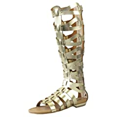 b7482acb91da CAMSSOO Women s Fashion Knee High Gladiator Flat Outdoor Sand .