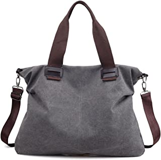 Women's Canvas Shoulder Bags Crossbody Tote Purse Work Travel Weekender Bag