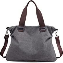 Sunshinejing Women's Vintage Hobo Canvas Daily Purse Top Handle Shoulder Tote Handbag
