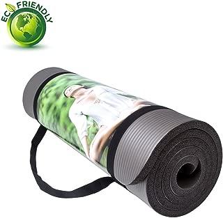 QUBABOBO Estera de Yoga 15mm Gruesa Antideslizante Esterilla
