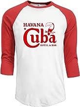 Cuba Havana Bar Mens Cherished Graphic Print Premium Cotton 3/4 Sleeve Tshirt