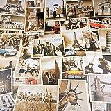 32Tarjetas postales,hojas postales, postales vintage, edificios antiguos europeos, postales de viaje (14 x 10 cm)
