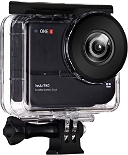 Dive Case for Insta360 ONE R Boosted Battery 360 Degree Action Camera, Waterproof Housing Underwater Diving Protective Shell 30M with Bracket Accessories
