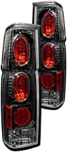Winjet Tail Lights Compatible With 1986-1994 Nissan Hardbody D21 & 995-1997 Nissan Hardbody Pickup | Black/Clear LED Drivers Taillight Tail Lamp Replacement | 1987 1988 1989 1990 1991 1992