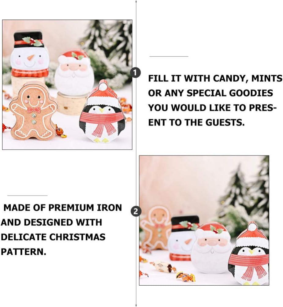 VALICLUD Weihnachtsdose Candy Box Schneemann Geformt Leere Dosen Weihnachten Cookie Dosen Geschenk Aufbewahrungsbeh/älter Behandeln Boxen Urlaub Dekorative Box