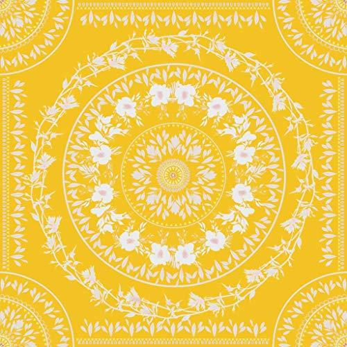 KHKJ Niñas Flor Impresión Tapiz Colgante de Pared Toalla de Playa Amarilla Decoración Boho Paño de Pared Dulce Manta de Mesa Tapices A6 150x130cm
