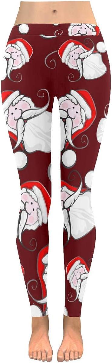 InterestPrint Custom Christmas Abstract Stretchy Capri Leggings