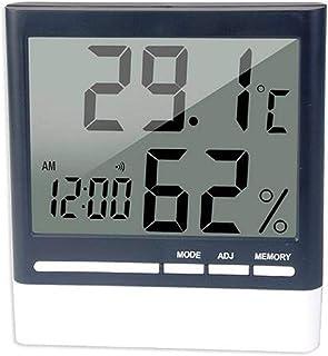XYXZ Termómetro De Habitación Higrómetro Digital Temperatura Interior del Hogar Medidor De Humedad Pantalla LCD Sensor Son...