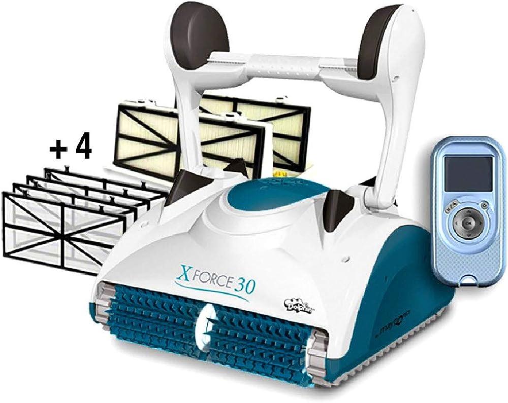 Maytronics dolphin x force 30 digital con radiocomando, robot elettrico pulitore per piscina 3661145010087