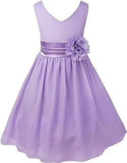 9a4c94aacba TiaoBug Enfant Fille Robe Princesse Soirée Cérémonie Robe Demoiselle  d honneur Mariage Robe Mariee Robe