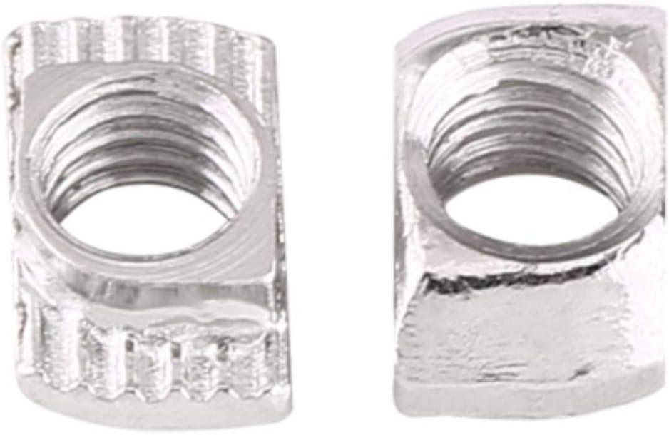 EU20-M4*10 * 6 verzinkter Mutternverschluss aus Kohlenstoffstahl f/ür Aluminiumprofil 50 St/ück T-Schlitz Hammerkopfmutter