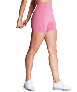 Aoxjox Women's High Waisted Workout Yoga Gym Energy Seamless Shorts