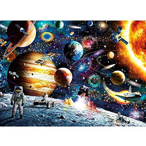 Muenm Rompecabezas Rollo Mat for Adultos Difícil Espacio Puzzle 1000 Piezas de Rompecabezas Puzzle Niños Adultos - Planetas en el Espacio Rompecabezas for el Muchacho Regalo de la Muchacha