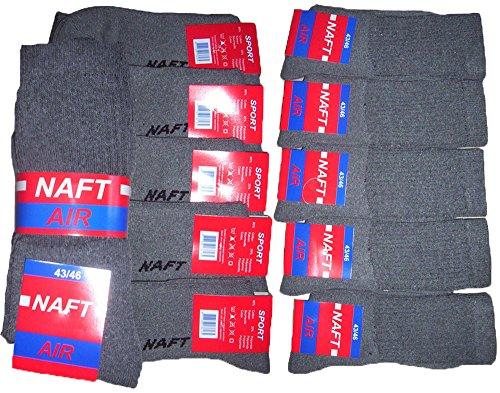 r-dessous 10 Paar stabile Qualitäts Herren Arbeitssocken Herrensocken Work Socken Arbeits Strümpfe grau Groesse: 43-46