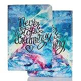 Hülle für PC Tablette Universal 10 Zoll (9.5-10.5 Zoll) - Tasche Leder Flip Hülle Etui Schutzhülle Cover für 9.6 9.7 10.1 10.2 10.4 10.5 Tablet, Träume verfolgen