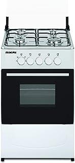 Nikai Gas Cooking Range With Oven 50x50cm, White - U210n5