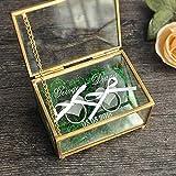 'N/A' Caja de anillo de boda personalizado,Caja de anillo de boda personalizada,Caja de joyería de cobre,Caja de soporte de anillo de ceremonia de boda