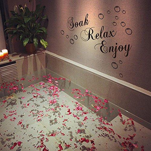 Bazaar 30xSalle de bains en papier murale imperméable de 60 centimètres décalques amovibles autocollant mural de décor de famille