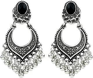 Ethnic Earrings Lotus Tribal Dangle Earrings Vintage Tassel Jewelry for Women Girls