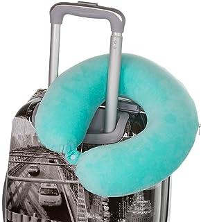 Almohada de cuello premium | reposacabezas |con pulsador |evita el balanceo de la cabeza| funda extraíble lavable