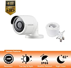 Samsung Wisenet SDC-89440BB - 4MP Weatherproof Bullet Camera, Compatible with SDH-C85100BF (Renewed)