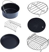 Kit de acessórios para fritadeira a ar Delaman 6 em 1, conjunto de acessórios para fritadeira a ar multifuncional, peças d...