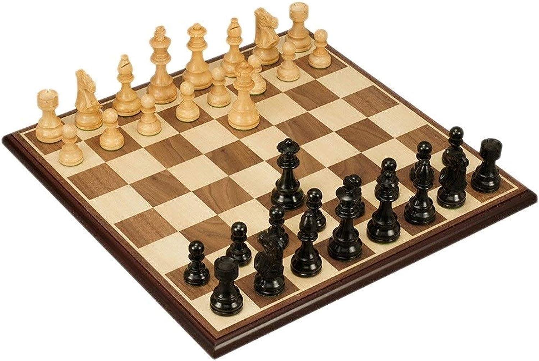 DUOER home Schach Hlzernes internationales Schachspiel-Brettspiel-Wortschach von hoher Qualitt Traditionelle Spiele (Farbe   C)