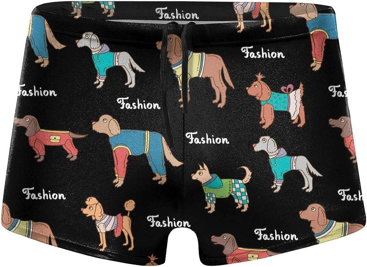 Colored Dogs Men's Swimming Trunks Fitness Swimwear Boxer Pants Board Shorts