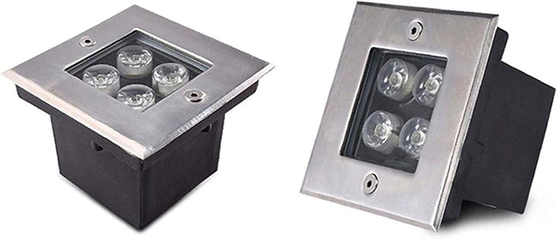 MWKLW 2 Pack Super Quality inspection Bright LED Recessed Light 4W IP67 Overseas parallel import regular item Floor Squa