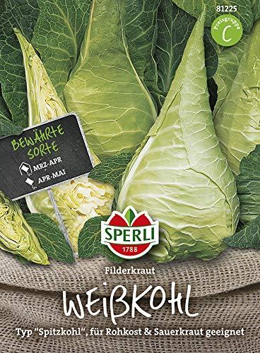 Sperli 81225 Gemüsesamen Weißkohl Filderkraut, grün