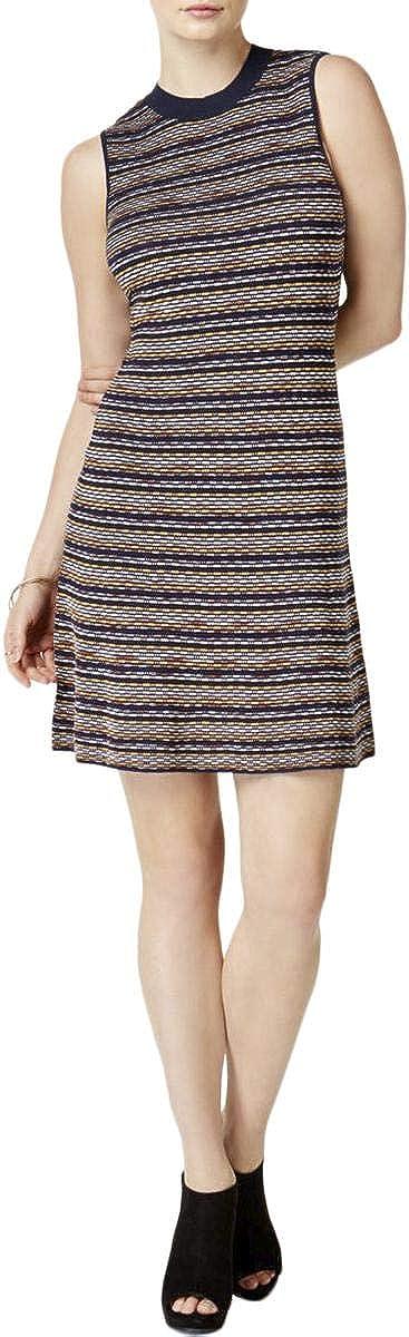 bar III Womens Printed Mock-Neck Sweater Dress