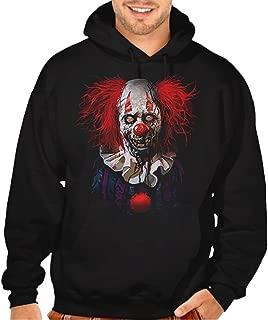 Men's Zombie Clown Black Pullover Hoodie Sweater Black