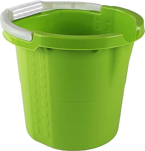 Rotho Daily Seau de 10 l avec Poignée Souple, Bec et Balance, Plastique (PP) sans BPA, Vert, 10 l (32,0 X 29,0 X 27,5...