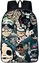 Lontime Gorillaz Street Fighter Band Creative Comfortable Backpack Unisex Casual bag 30 ONE SIZE