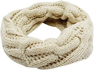 Baby Kids Knitted Infinity Scarf Warm Thick Circle Loop Scarf Neckerchief for Boys Girls